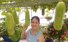 """Khu vườn """"thạch sanh"""" bội thu rau quả quanh năm trên sân thượng ở Sài Gòn"""