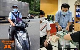 MC Quyền Linh đi dép lê, đeo ba lô tiền, tự chạy xe máy tới ủng hộ thêm 2,2 tỷ VNĐ cho quỹ vaccine cho người lao động nghèo