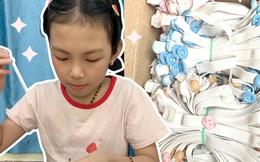 """Bé gái 9 tuổi trắng đêm tự tay làm 500 chiếc """"tai giả"""" gửi đến các y bác sĩ Bắc Giang"""