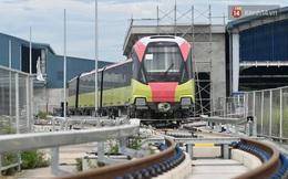 Ảnh: Thử nghiệm vận hành liên động tuyến đường sắt đô thị số 3 đoạn Nhổn - Cầu Giấy