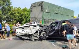 NÓNG: 9 ô tô tải, xe con đâm liên hoàn trên quốc lộ