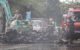Hà Nội: Cháy lớn ở xưởng nhựa, người dân khẩn cấp giải cứu 6 ô tô