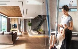 Căn hộ duplex ngập tràn ánh ánh nắng ở Hà Nội: Có nước chảy cây xanh, không gian thoáng đãng cho các hoạt động của gia đình