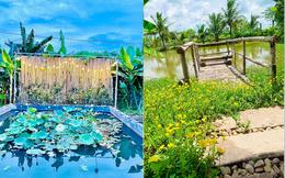 """Khu vườn """"copy Lý Tử thất"""" rộng 2.500m2 ở Bạc Liêu: Vườn rau, ao cá, sum sê cây trái và nhiều góc """"sống ảo"""", ai nhìn cũng mê"""