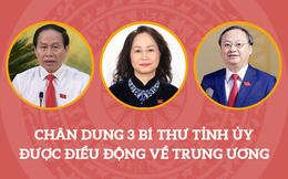 Chân dung 3 Bí thư Tỉnh ủy được điều động về Trung ương