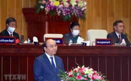 Chủ tịch nước Nguyễn Xuân Phúc có bài phát biểu quan trọng trước Quốc hội Lào