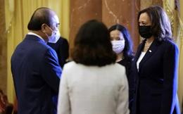 Chủ tịch nước Nguyễn Xuân Phúc hội kiến Phó Tổng thống Mỹ Kamala Harris
