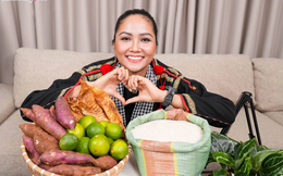 """Thời tới cản không kịp, Hoa hậu H'Hen Niê livestream bán nông sản hỗ trợ bà con mùa dịch, """"mát tay"""" đến mức chốt được 1.500 đơn hàng trị giá 300 triệu VNĐ!"""