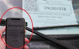 Hệ thống quét mã luồng xanh ở Thủ đô tê liệt, Thanh tra - CSGT tỏ ra... bối rối