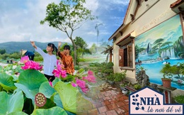 """Nhà vườn rộng tới """"2 mẫu"""" ở Hải Dương: Không gian sống quây quần của đại gia đình 3 thế hệ, sân vườn ao sen nên thơ không kém khu du lịch sinh thái"""