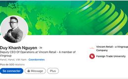 Lý lịch Phó Tổng 9X của Vincom Retail: Tốt nghiệp hai trường đại học Ngoại Thương và Luật Hà Nội, tham gia Vingroup từ năm 2016