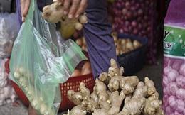 """Gừng Trung Quốc """"ngập"""" chợ Việt Nam"""
