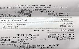 """""""Giá bán hàng ở sân bay là giá cắt cổ"""""""