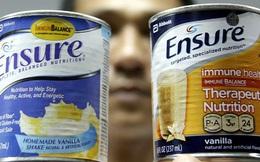 Sữa Ensure nhãn màu cam thành nhãn màu xanh
