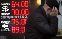 Đồng nội tệ của Nga có lúc chạm mốc 80 ruble/USD