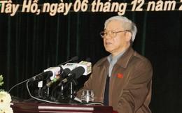 Tổng bí thư: Trung ương đang làm quyết liệt để chống tham nhũng