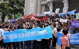 Báo chí quốc tế đồng loạt đưa tin về cuộc tuần hành phản đối Trung Quốc