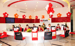 HDBank được mở 5 chi nhánh và 9 phòng giao dịch