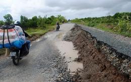 Tuyến đường 66 tỉ vừa thông xe đã lún