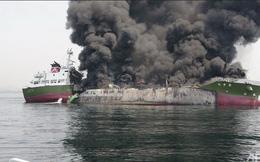 Tàu chở dầu ngàn tấn nổ dữ dội trên biển Nhật Bản