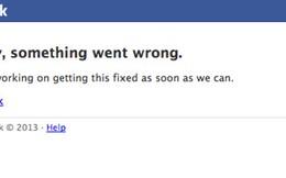 Facebook đột ngột 'sập' 20 phút trên toàn cầu