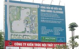 Hà Nội cho thuê đất kinh doanh tại lô đất công viên Hồ điều hòa Nhân Chính