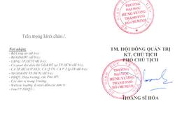 Tranh cãi về con dấu mới của Đại học Hùng Vương