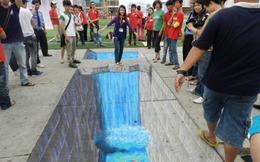 Hazeline hấp dẫn khách hàng 'teen Việt' bằng tranh 3D đường phố