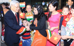 Tổng Bí thư Nguyễn Phú Trọng thăm Đại sứ quán Việt Nam tại Ấn Độ