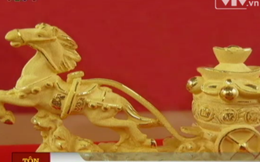 Ngựa dát vàng 24K gây 'sốt' dịp Tết Giáp Ngọ