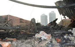 Hoang tàn sau vụ cháy kho hàng tết 4000 m2