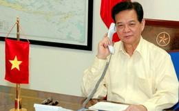 Thủ tướng Nguyễn Tấn Dũng điện đàm với Thủ tướng Malaysia về máy bay mất tích