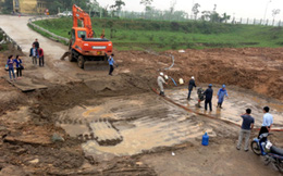 Vẫn chờ xác định nguyên nhân vỡ đường ống nước Sông Đà