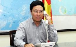 Phó Thủ tướng Phạm Bình Minh điện đàm với Bộ trưởng Bộ Ngoại giao Trung Quốc