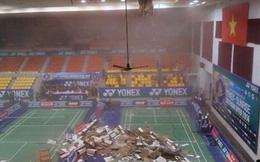 Sập trần nhà thi đấu: Do quên bảo trì?