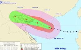 Trưa nay (16/9), tâm bão số 3 đi vào vùng biển Bắc vịnh Bắc Bộ