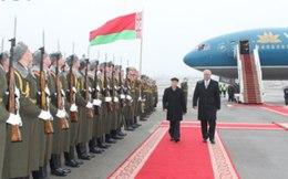Tổng Bí thư Nguyễn Phú Trọng bắt đầu chuyến thăm Belarus