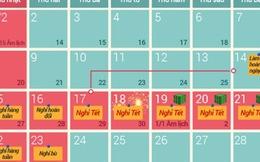 Chính phủ chốt phương án nghỉ Tết Nguyên đán 9 ngày