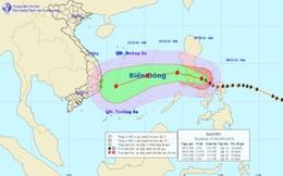 Sáng sớm 9/12 bão Hagupit sẽ đi vào khu vực phía Đông biển Đông