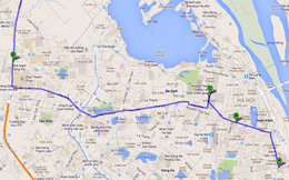 Bản đồ cấm đường trong dịp Quốc tang Đại tướng Võ Nguyên Giáp