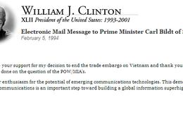 Email đầu tiên giữa hai nguyên thủ là về Việt Nam