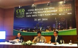 IDG công bố giải thưởng Quản trị doanh nghiệp tiêu biểu Việt Nam 2014