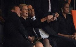 David Cameron và Barack Obama chụp ảnh tự sướng tại lễ tang Mandela