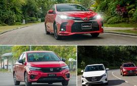 Xe sedan cỡ B: Cuộc cạnh tranh trên đỉnh thị trường ô tô