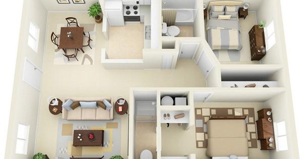 Chung cư 2 phòng ngủ thiết kế thế nào để đẹp và tiện nghi nhất?