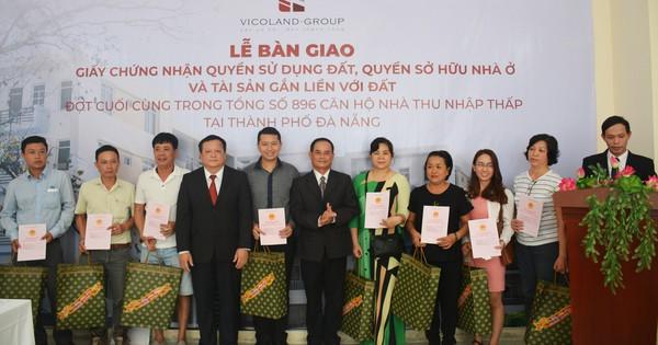 Vicoland tiếp tục bàn giao sổ hồng cho khách hàng tại Đà Nẵng và Huế