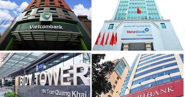 Hiệp hội ngân hàng kiến nghị tăng vốn ''khẩn'' cho Agribank, VietinBank, Vietcombank, BIDV