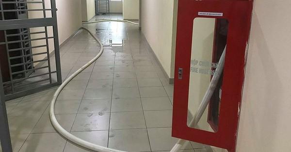Chung cư cao cấp chằng chịt vòi cứu hỏa để giải khát nước sạch