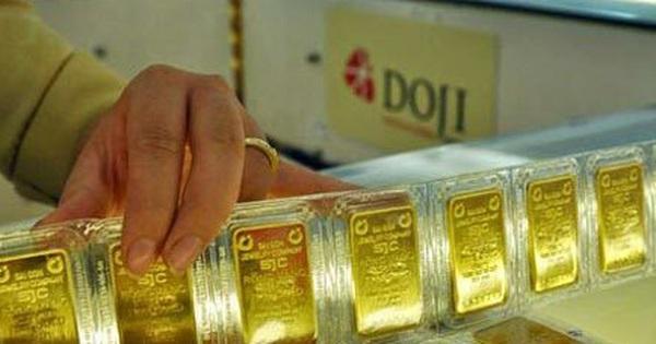 Giá vàng đảo chiều tăng 200 - 700 nghìn đồng/lượng so với đầu giờ sáng