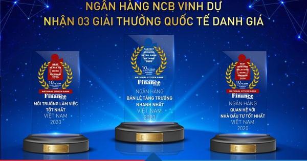 NCB giành 3 giải thưởng quốc tế từ Global Banking & Finance Review